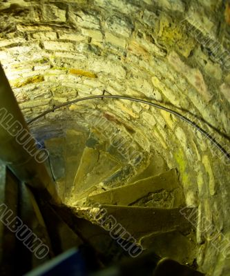 Spiral stair in the medieval castle