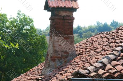 The ancient house, chimney