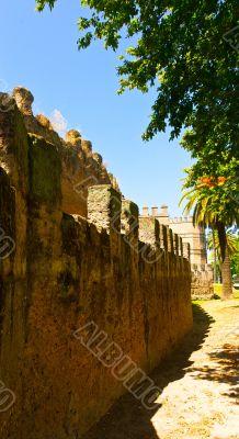 Medieval moslem fortress city wall in Sevilla