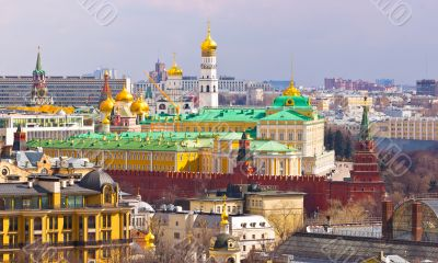 View to the Moscow Kremlin and city center