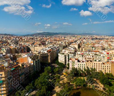 Barcelona cityscape from Sagrada Familia