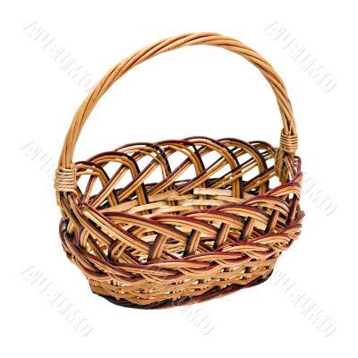 wickerwork basket with handle