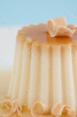 Caramel Pudding with 3 toned background