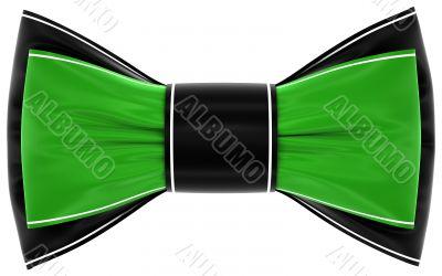 green black bow