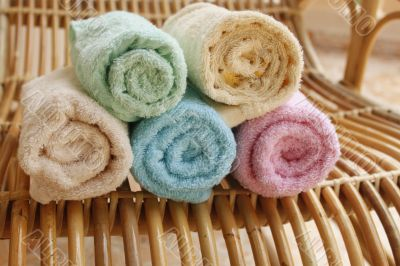 Multicolour towels rolls
