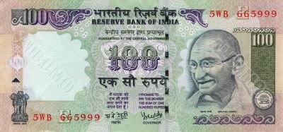 100 rupees bill of India