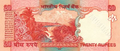 20 rupees bill of India