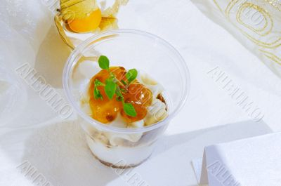 dessert in plastic cup