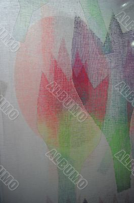 Texture of fabric with floral patterns