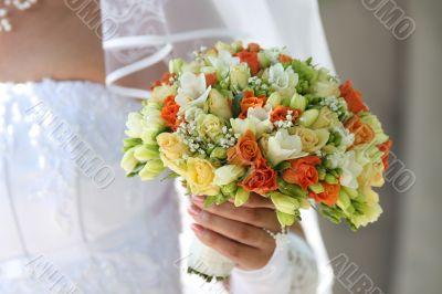 Multi-coloured bouquet 1.