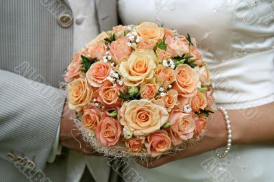 Cream-coloured bouquet.