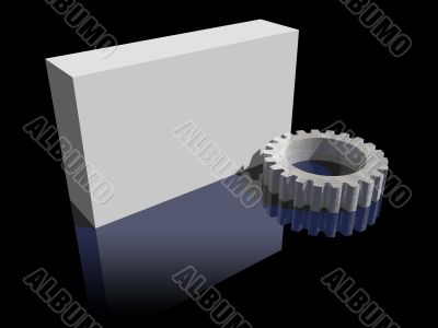 blank box and gear