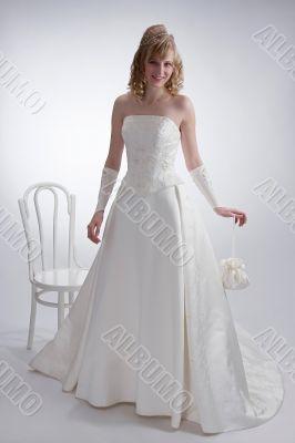 Beautiful bride in white dress 3.