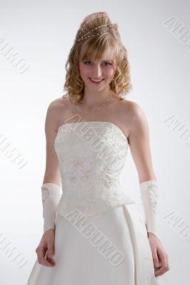 Beautiful bride in white dress 1
