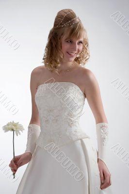 Beautiful bride in white dress 2.