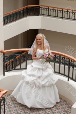 Bride in gallery