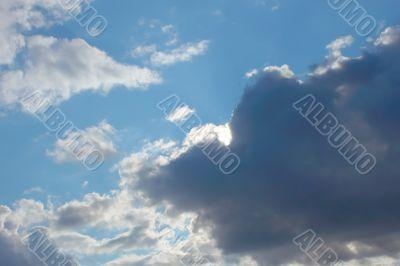 Beautiful autumn cloudscape