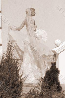 Bride With Fan