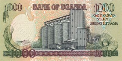 1000 Shilling bill of Uganda