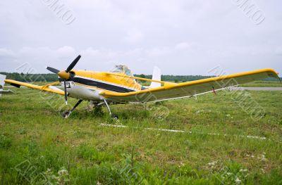 Light aircraft parked