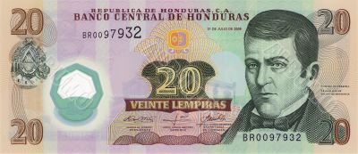 20 lempira bill of Honduras
