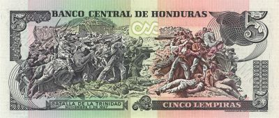 5 lempira bill of Honduras