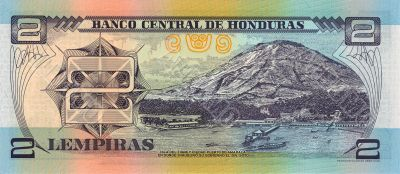 2 lempira bill of Honduras