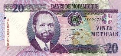20 Meticais of Mozambique