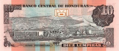 10 lempira bill of Honduras
