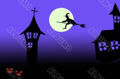 halloween wallpaper postcard