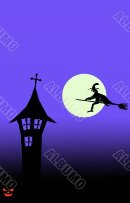 halloween wallpaper postcard vertical