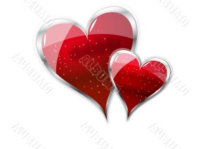 heart, two heart, gifted heart,valentine heart