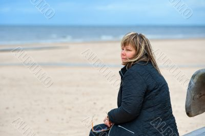 Adult woman at the sea