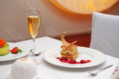 Dessert in restaurant