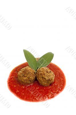 meatballs with tomato's sauce