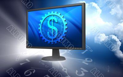 Tft monitor and dollar sign