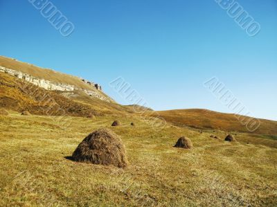 End of summer. Caucasus landscape