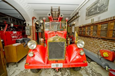 Old fire-engine vehicle