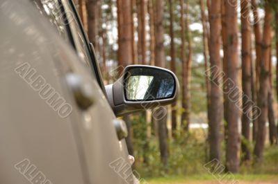 Automobile lateral mirror