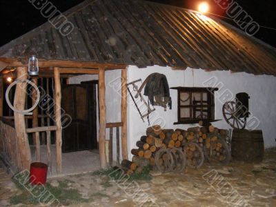 Log hut The house