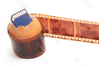 Sd memory card,egg-shell and film