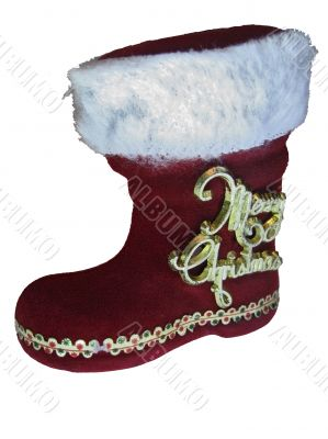 Hidden present for Christmas in red boot