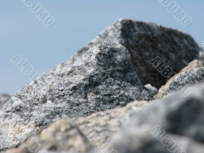 The crushed stones