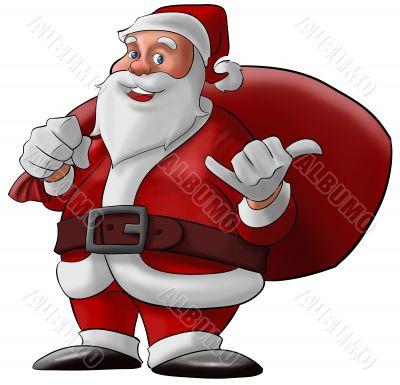 hang loose santa claus