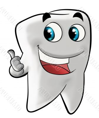 Smiling molar tooth