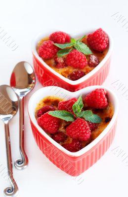 French creme brulee dessert