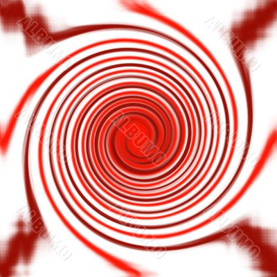 Abstract red twirl background