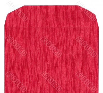 Red texture paper envelope front