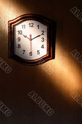 Clock And Beam Of Light