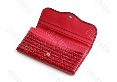Red Open Change Purse
